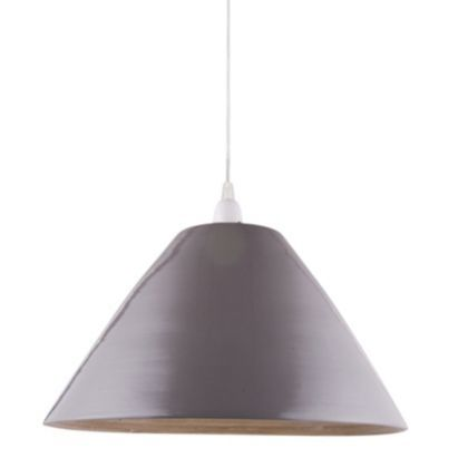 This glossy grey Cruse shade has a stunning bamboo inner! #shade #lights
