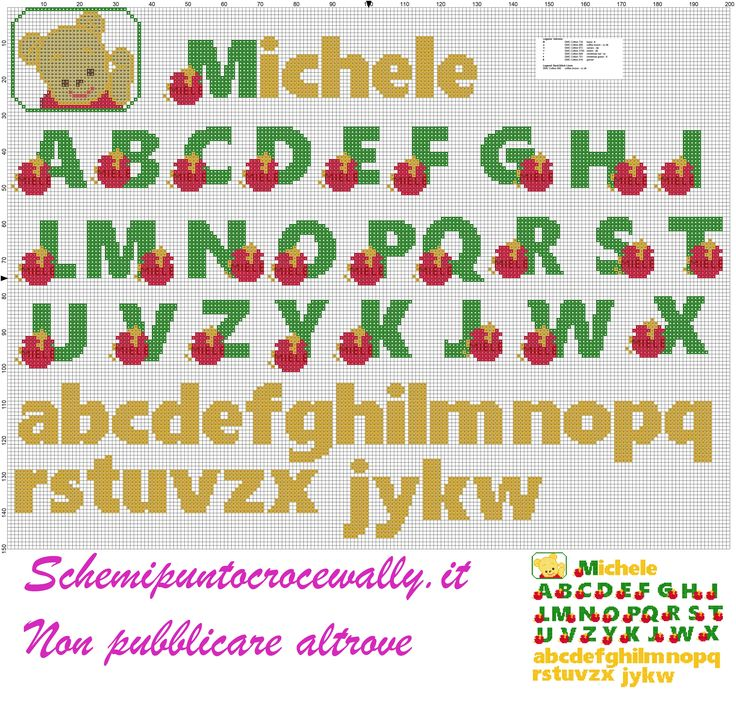 17 best images about cross stitch alphabets on pinterest for Schemi punto croce winnie the pooh baby