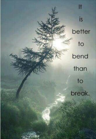 It is better to bend than to break