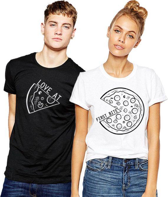 Conjunto de dos camisetas PIZZA de 2 pareja por FUNNYARTiSHOCK