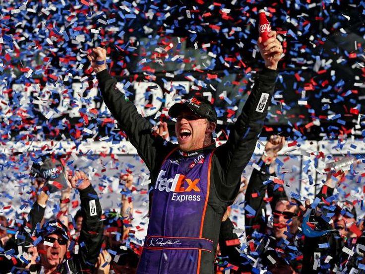 Best of the 2016 Daytona 500:    Denny Hamlin celebrates after winning his first career  -   Denny Hamlin celebrates after winning his first career Daytona 500.