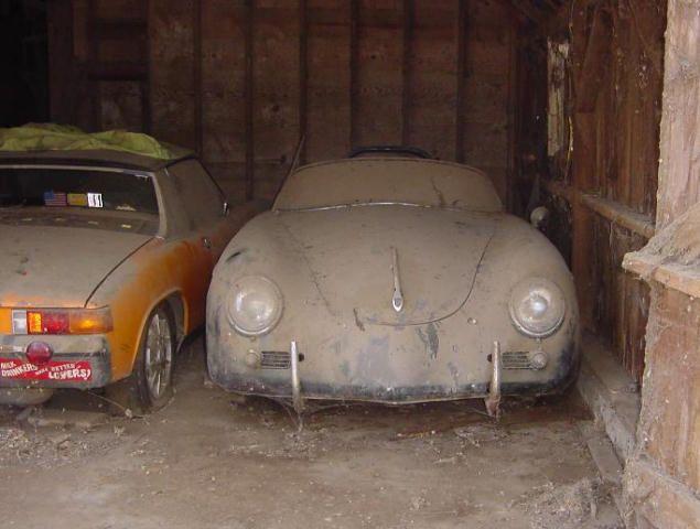 Porsche 356 Speedster  I have seen a T-bird in this condition.  Broke my heart.