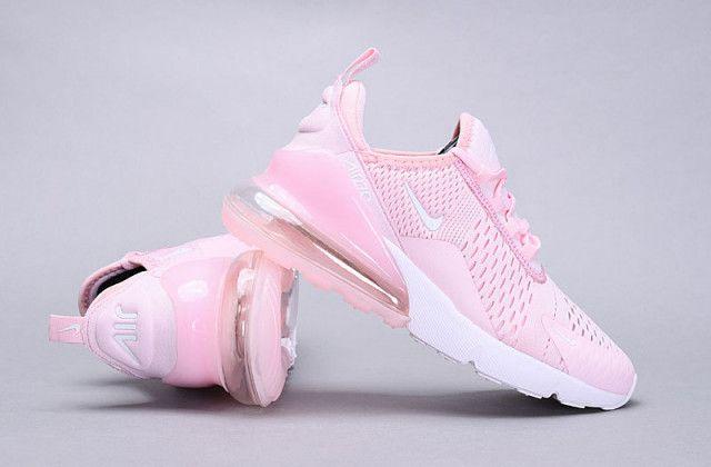 Womens Winter Nike Air Max 270 Flyknit Sneaker Cherry pink