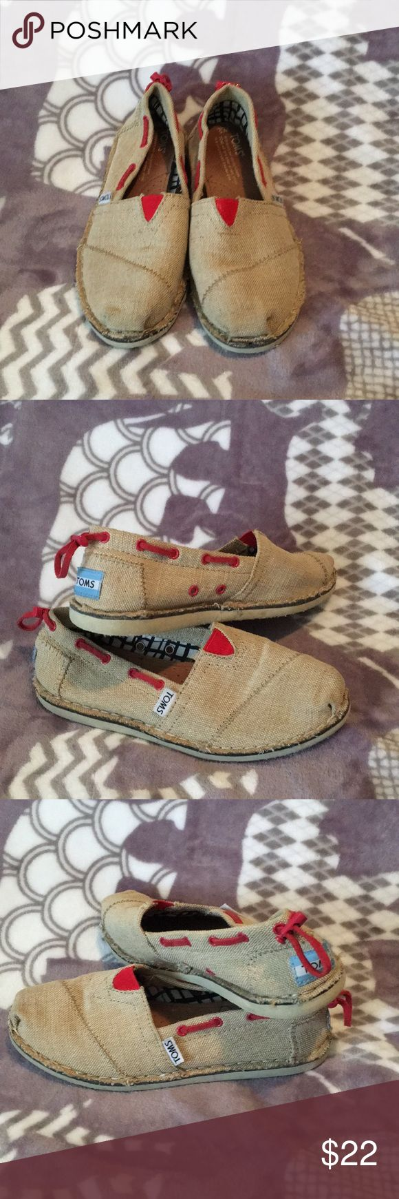 Brown burlap Toms Brown Burlap type Toms Toms Shoes Flats & Loafers