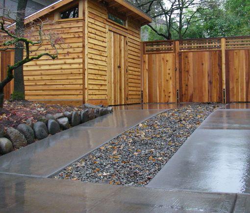 Pebble U0026 Concrete Strip Driveway.