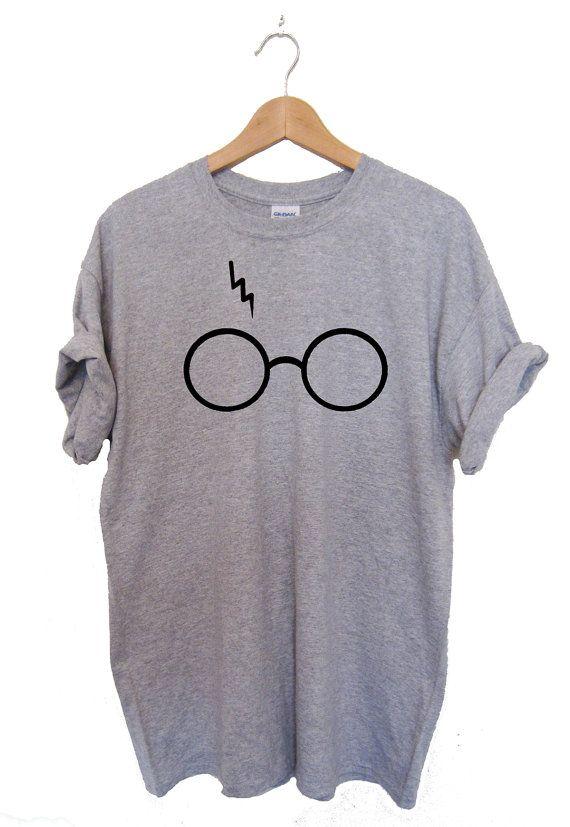 Harry Potter Shirt Lightning Glasses T-shirt Shirt Tee High Quality SCREEN PRINT Super Soft unisex Worldwide ship