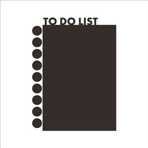 TO DO LIST Notebook Style Black Message Board Office Living Room Entrance PVC Plane Wall Stickers