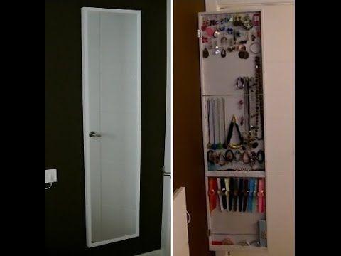 Como hacer un armario o espejo joyero diy organizador - Como hacer un armario de pladur ...