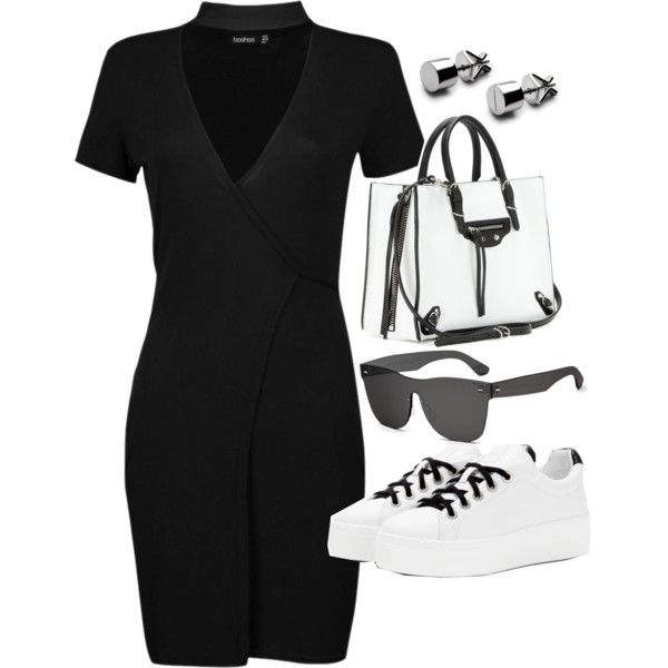 A fashion look from February 2017 featuring Boohoo dresses, Kenzo sneakers e Balenciaga shoulder bags. Browse and shop related looks.