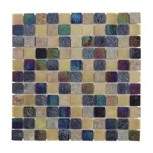 Jeffrey Court, Himalayan Slate Glass 12 in. x 12 in. Wall Tile, 99139 at The Home Depot - Mobile