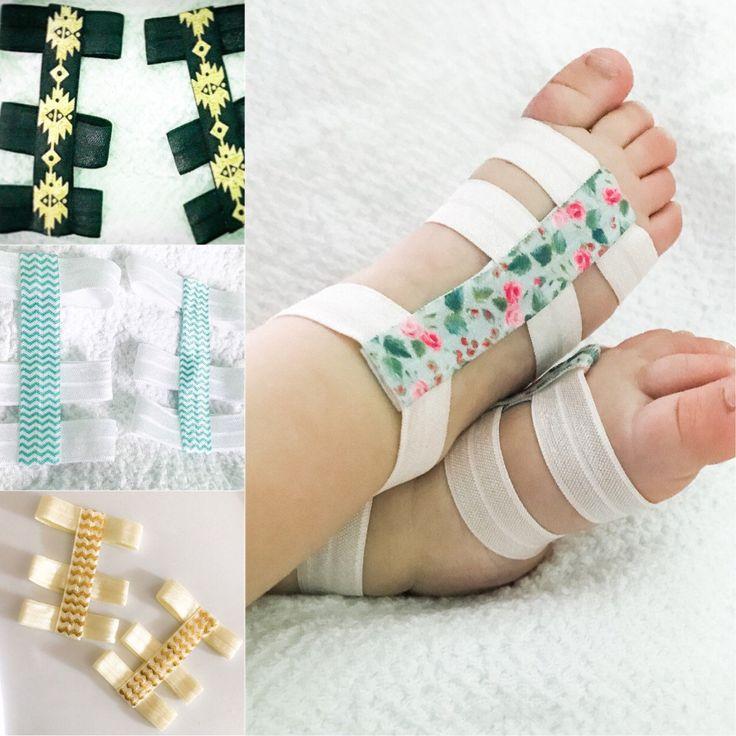 Sandalias pies descalzos del bebé  Sandalias pies descalzos