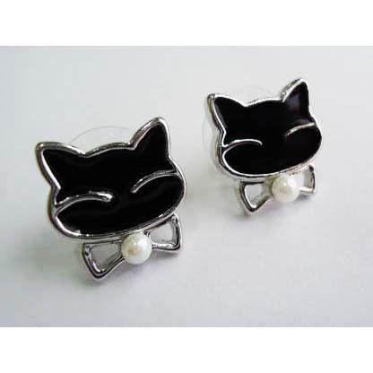 Earring Black Cat