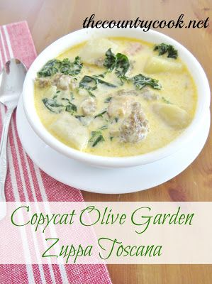 The Country Cook: Copycat Olive Garden Zuppa Toscana