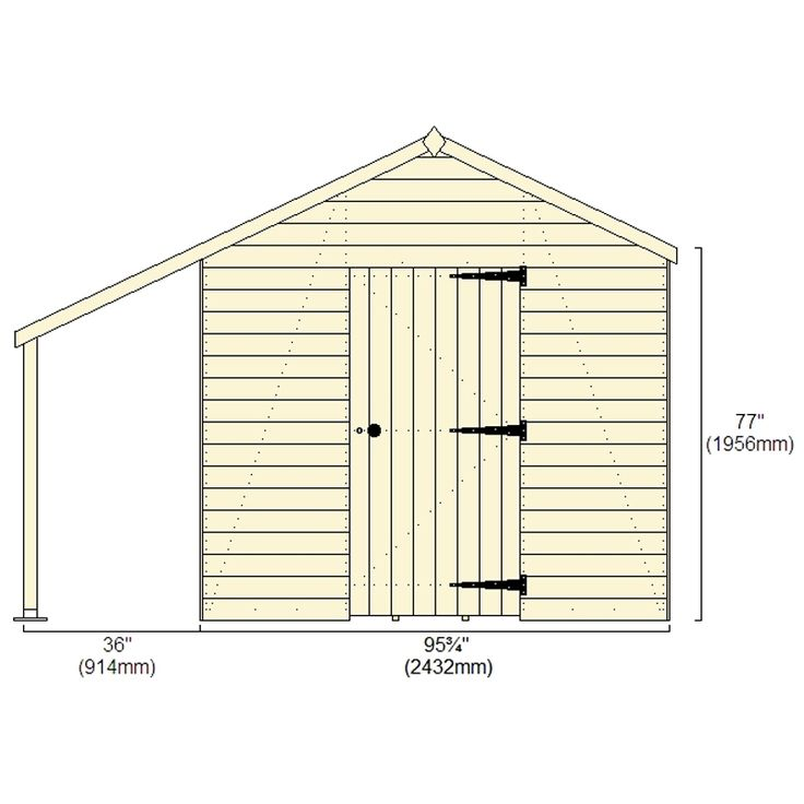12x8 Ultimate Heavy Duty Workshop | Buy Sheds Direct