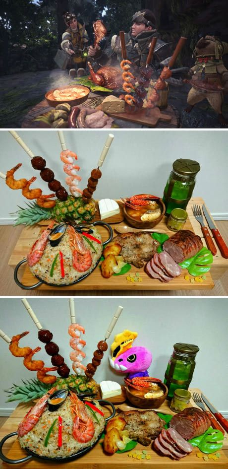 Mejores 91 imgenes de monster hunter related stuffs en monster hunter meal you can actually eat it forumfinder Gallery