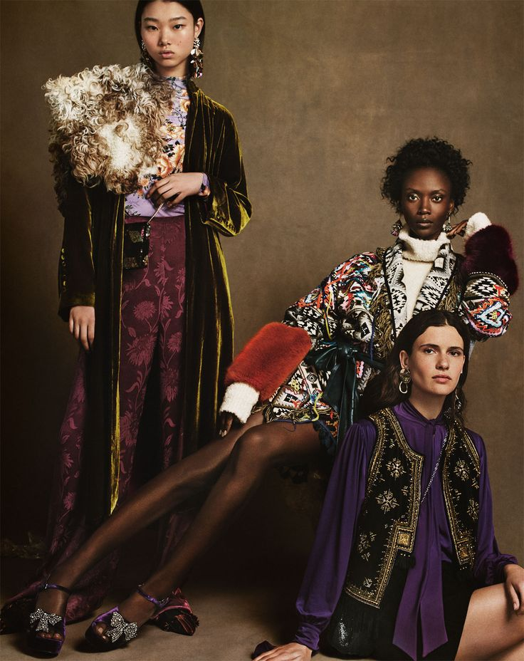 Drooling over this mix of jewel tones, velvet, faux fur, embellished details, embroidery and luxe layers ...