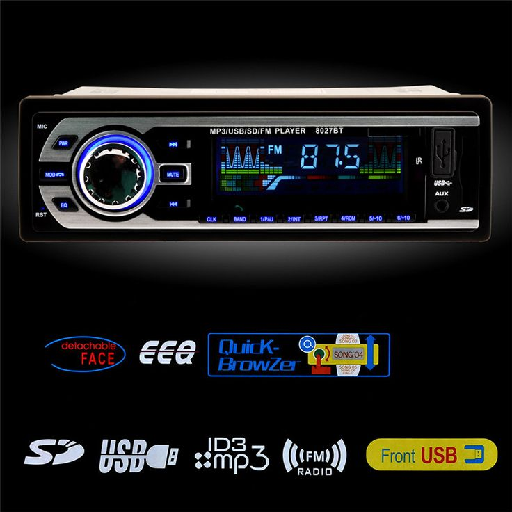 Bluetooth Car Stereo Audio In-Dash One Din Built-in FM Radio Receiver Aux Input Receiver SD Card USB MP3 Player Charger Function Online Order – Wallreview Online Store