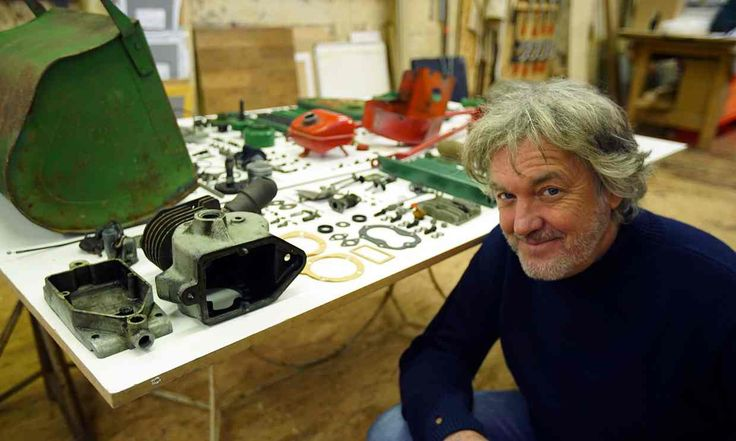 James May: The Reassembler features the presenter putting back together 331 lawn mower parts