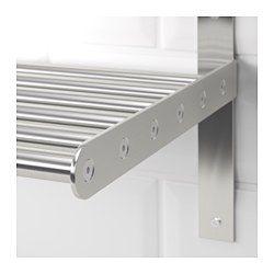 IKEA - GRUNDTAL, ウォールシェルフ, 120 cm, , 壁面収納でワークトップの上をすっきり広々と使えます鍋ぶたホルダーとしても使えます湿度の高い場所でも使用できます