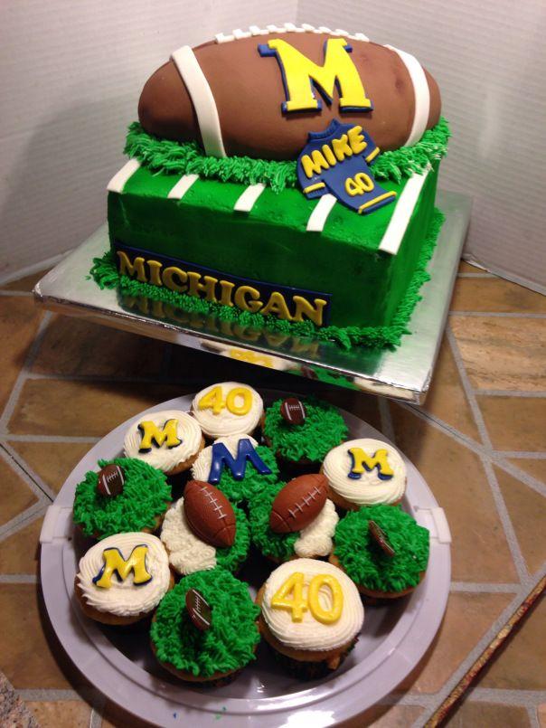 Michigan Wolverine Cakes
