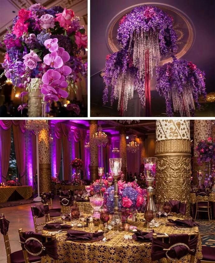 Magenta Fuschia And Gold Great Theme For A 16th Or 21st Party Tail
