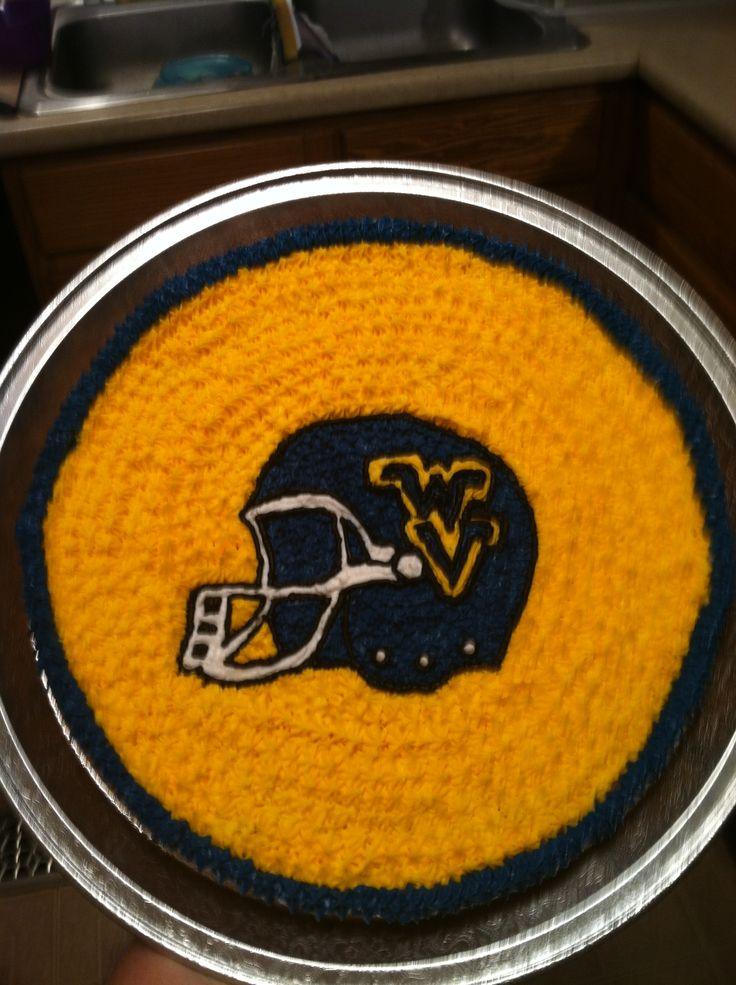 WV Football cookie cake