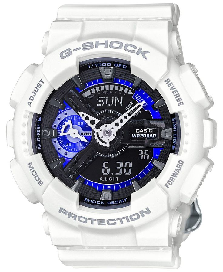 G-Shock Women's Analog-Digital S Series White Bracelet Watch 49x46mm GMAS110CW7A3