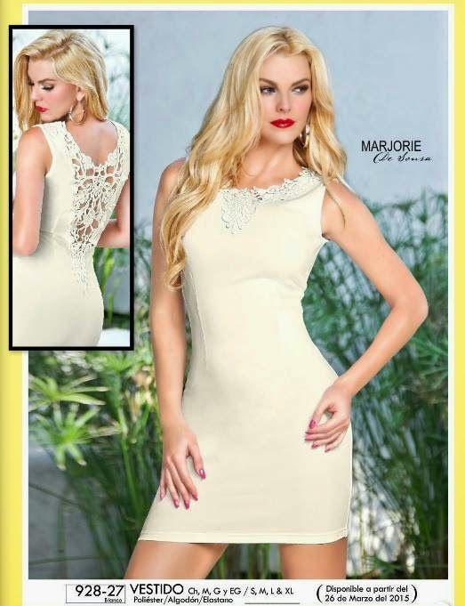 Vestido blanco modelado por Marjorie de Sousa. Nueva colección de Cklass Verano 2015