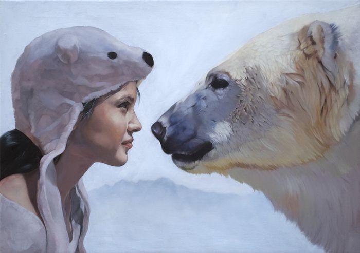 "To See Her as You'd See a Star, 2010  Oil on canvas, 20x28"""