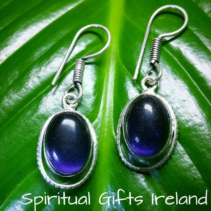 These striking handmade Amethyst earrings represent spirituality and peace of mind.Amethyst is a stone known to open the channels between your subconscious and the divine, develop intuition and psychic abilities Follow us on : www.facebook.com/spiritualgiftsireland www.instagram.com/spiritualgiftsireland  www.etsy.com/shop/spiritualgiftireland