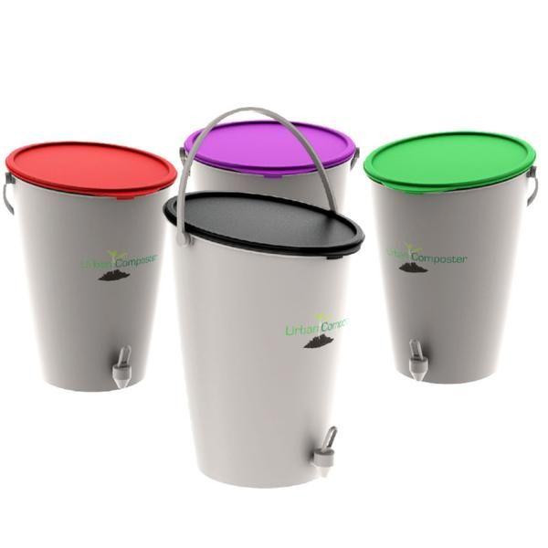 Urban Composter™ Bokashi bin Beginner's Kit - Black