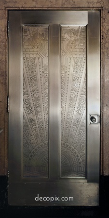 Decopix - The Art Deco Architecture Site - Art Deco Metalwork Gallery door