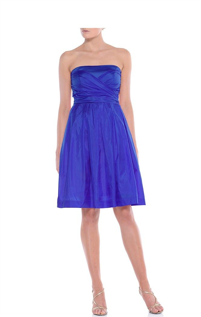 Sacha drake aurelia dress blue party dress blue for Semi formal dress for wedding guest
