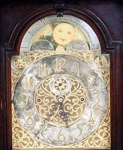 A circa 1890 Chippendale revival mahogany case grandfather floor clock