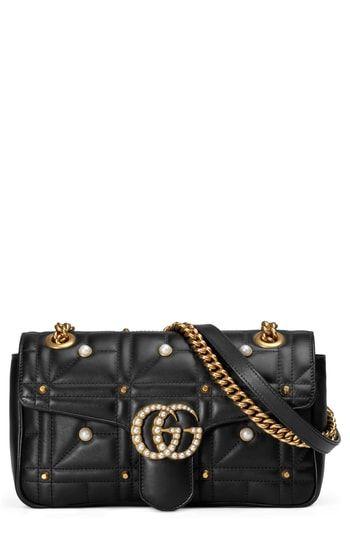 08d6e7ec374d Gucci GG Marmont Matelassé Imitation Pearl Leather Shoulder Bag | On ...