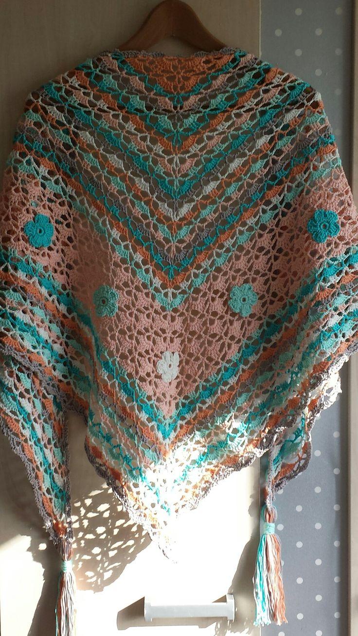 Blije kleuren-omslagdoek