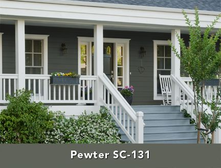 Behr Exterior Stain Pewter House Exterior Pinterest