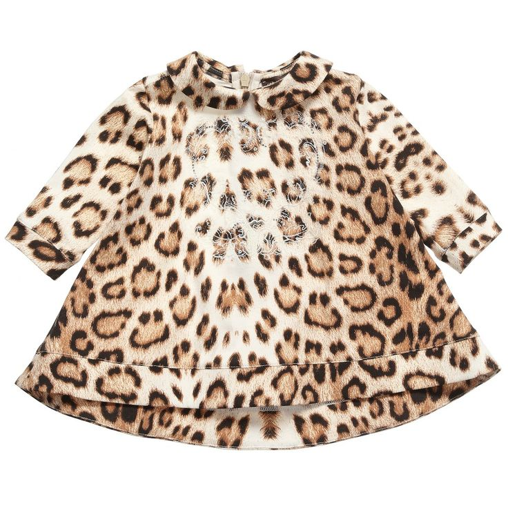 ROBERTO CAVALLI Baby Girls Leopard Cotton Dress