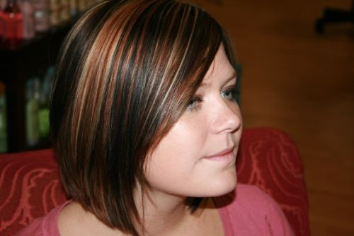Brown and Blonde Hair with Auburn Highlights | simple blonde highlights on toned red hairs gets a magical appeal