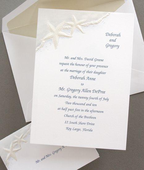 Beach Wedding Invitations | The Beach Wedding Invitations |