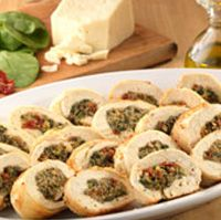 Chicken Involtini with Sun-Drie Tomatoes, Pine Nuts and Spinach . . .
