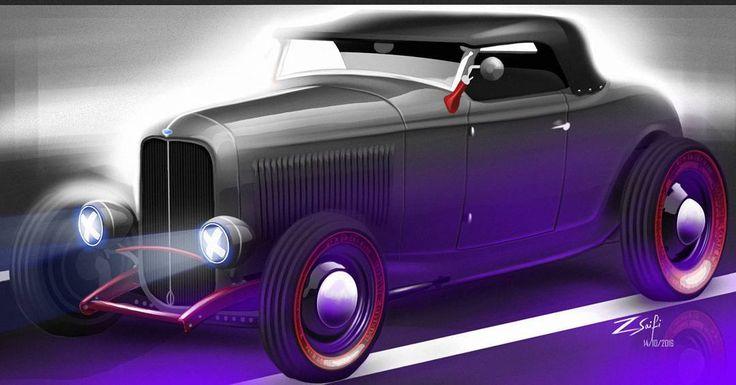 "53 Likes, 1 Comments - Mohammad Zahid Saifi (@zsaifi_08) on Instagram: ""Ford HotRod illustration #transportdesign #cardesignercommunity #illustration #automotivesketch…"""