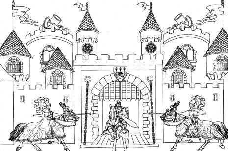 King Arthur Castle lots of great free printable coloring pages for older kiddos