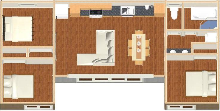 The Escape - 69.9m2 - Brisbane Granny Flat Design