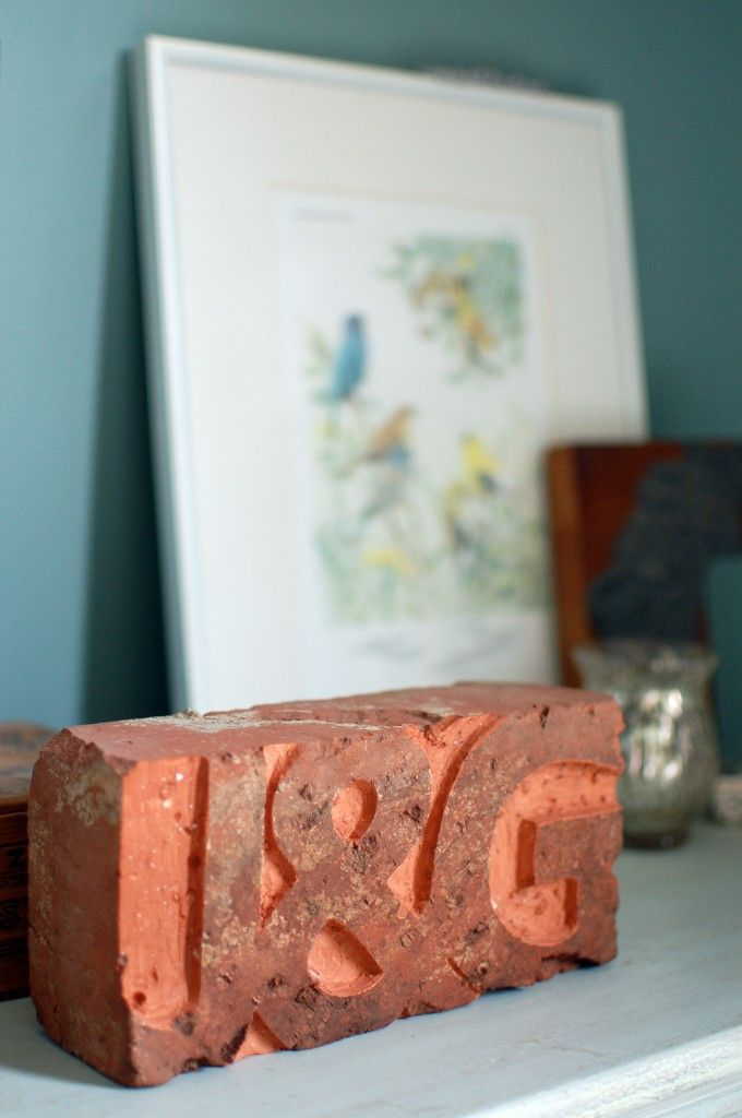 Carve a salvaged Brick with a dremel
