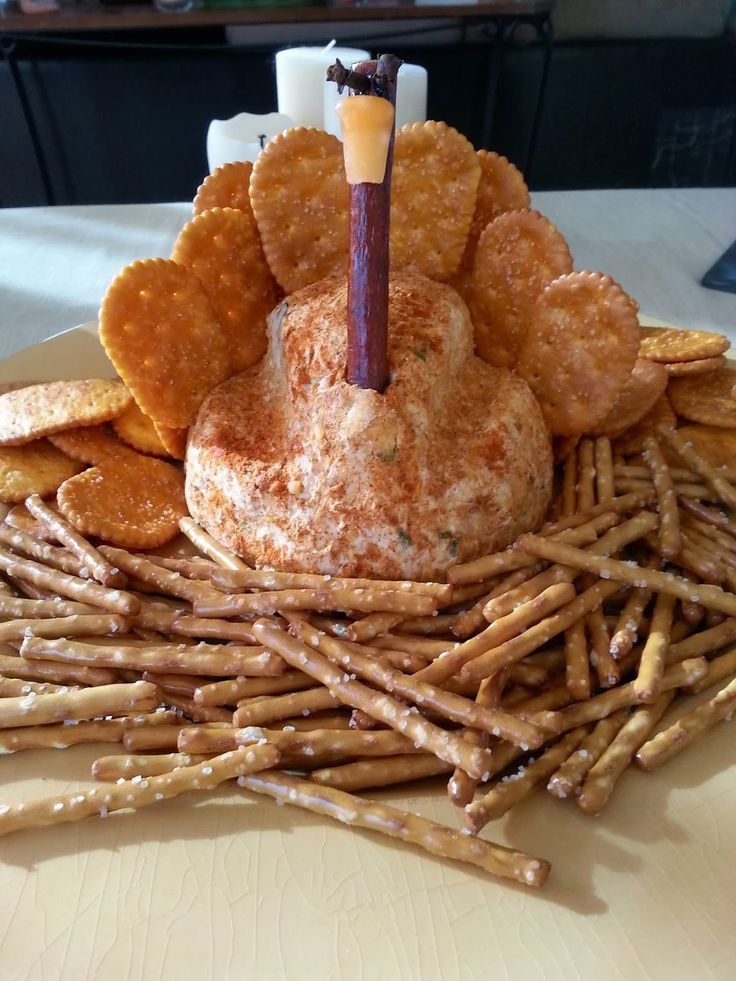 """I Have A New Site Called Chocolates and Crockpots! Come Check It Out!: A """"Turkey"""" Cheese Ball"""
