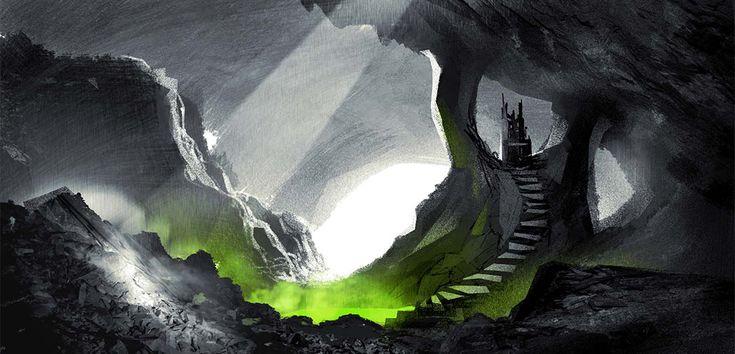 Vlad's lair concept by Sylvain Marc - Hotel Transylvania 2