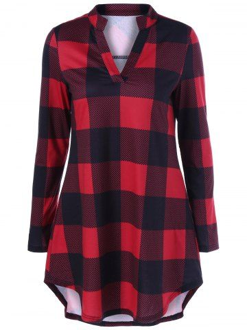 GET $50 NOW | Join RoseGal: Get YOUR $50 NOW!http://m.rosegal.com/t-shirts/plaid-and-polka-dot-t-shirt-959950.html?seid=vn8ondipsp4s8ruhqenc6rgq02rg959950
