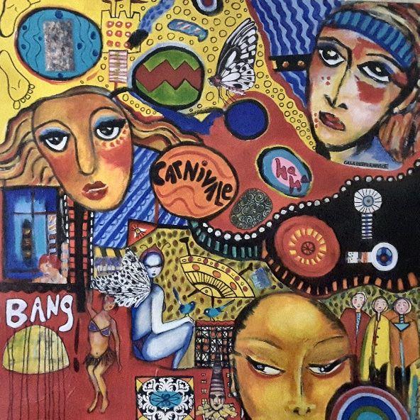 Lynne Mettam, Carnivale, Acrylic on Canvas $350