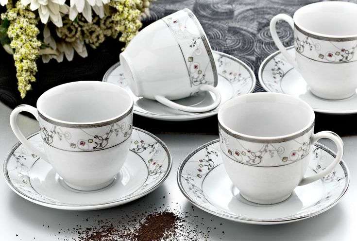 Zerden 12 Parça Porselen Çay Fincan Takımı 605